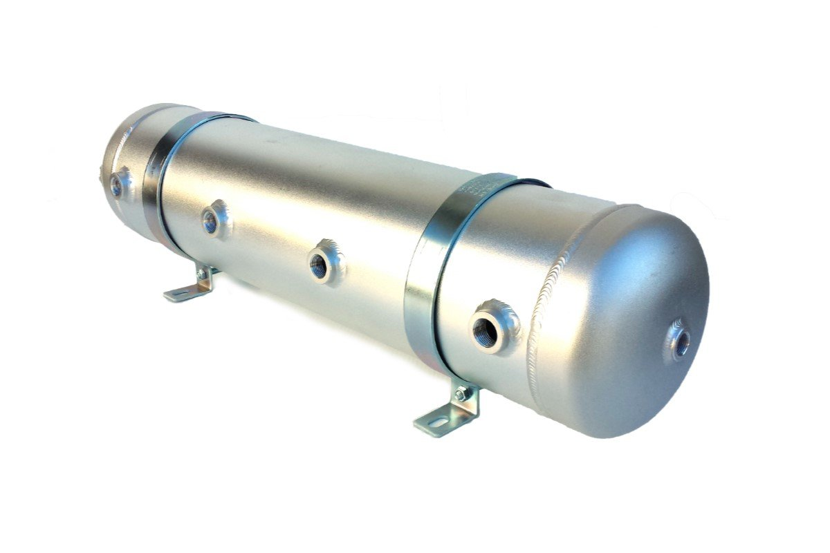 Aluminum Air Tank with 9 ports and 5 gallon size