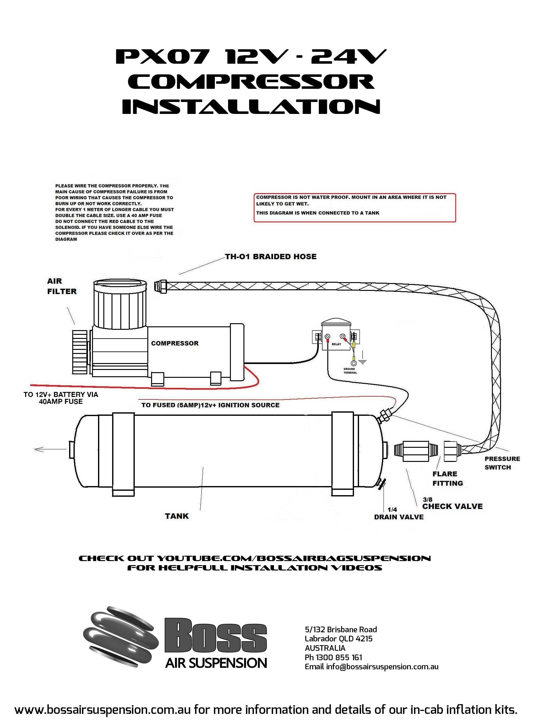 px07b f c 12 volt air compressor air suspension
