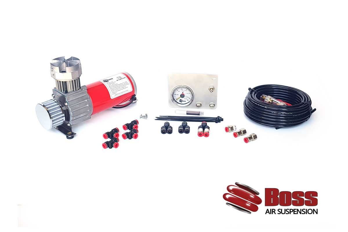 BOSS PX01 In Cab Kit Air Bag Suspension Compressor Gauge Switches Air Line New